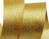 Metallic Sparkle Gold Satin Ribbon - 15mm(5/8'') , and 25mm(1'')