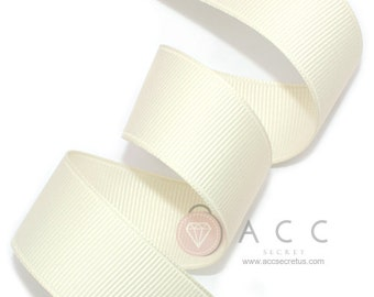 Ivory Grosgrain Ribbon - 5mm(2/8''), 10mm(3/8''), 15mm(5/8''), 25mm(1''), and 40mm(1 1/2'')