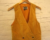 Forenza Gold Colored Leather Vest M
