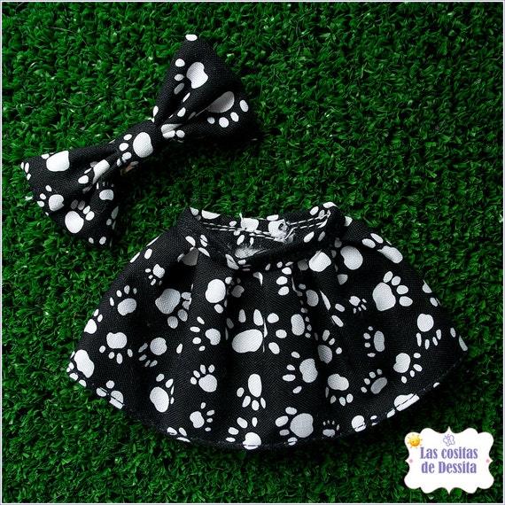 Black and white animal claws Flowers Skirt Falda Blythe Pullip