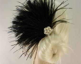 Wedding Bridal Fascinator, Bridal Fascinator, Feather Fascinator , Wedding Veil, Bridal Headpiece - The Couture Bride