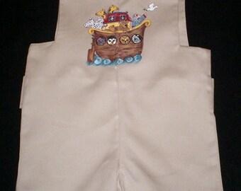 Handpainted Khaki Romper Size 12 Months