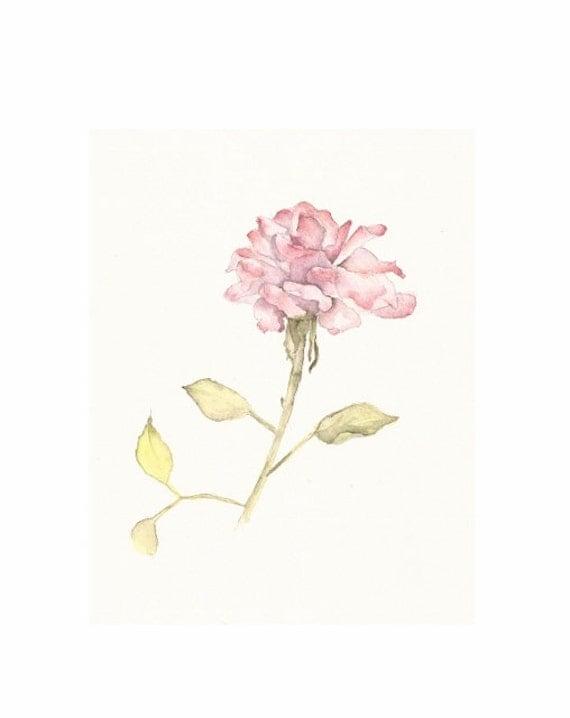 """My Last Rose of Summer 2012, Original Watercolor, 8""""x10"""""""
