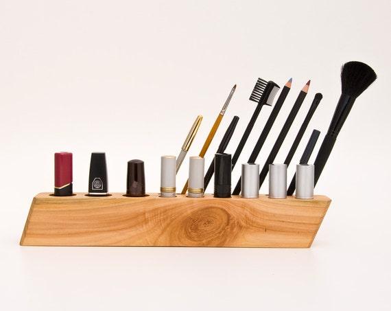 wooden makeup organizer countertop cosmetic organizer scarlett. Black Bedroom Furniture Sets. Home Design Ideas