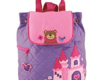 SHIPS NEXT DAY---Personalized Monogrammed Stephen Joseph Quilted Princess Bear Backpack--Free Monogramming--