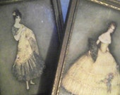 2- Framed Jeannie Harbour Postcards Isabella & La Manola - Tuck Oilette De Luxe