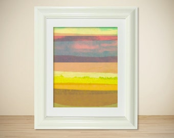 LOMO No. 2 // Modern Abstract Landscape Art Print, Colorful Art, Mixed Media, Photography, Digital Print, Giclee, Wall Art