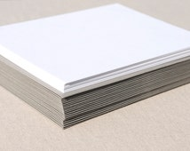 Blank Stationery Set with Grey Envelopes - Set of 20 Flat A2 Size Cards
