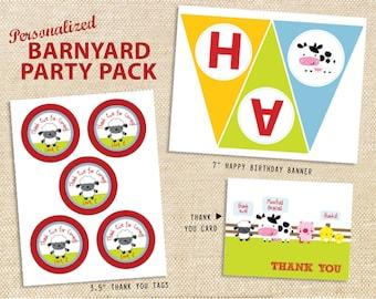 Barnyard Birthday Printable Party Pack - DIY