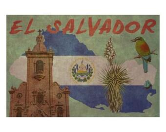 EL SALVADOR 1FS- Handmade Leather Photo Album - Travel Art
