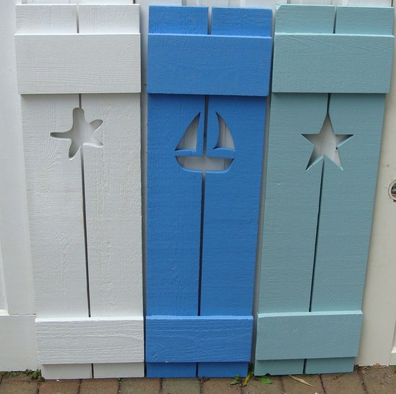 exterior interior shutters cutout wood beach house shutter