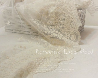 wide embroidered mesh lace 1yard (width 46cm) 12945