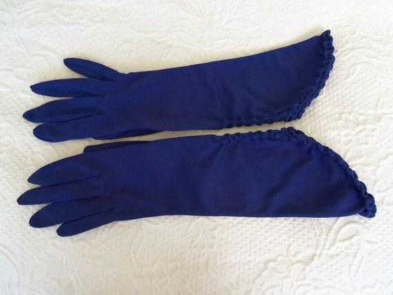 Vintage 50's 60's Dress Gloves Deep Purple Unique