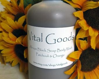 Patchouli Orange Black Soap Body Wash