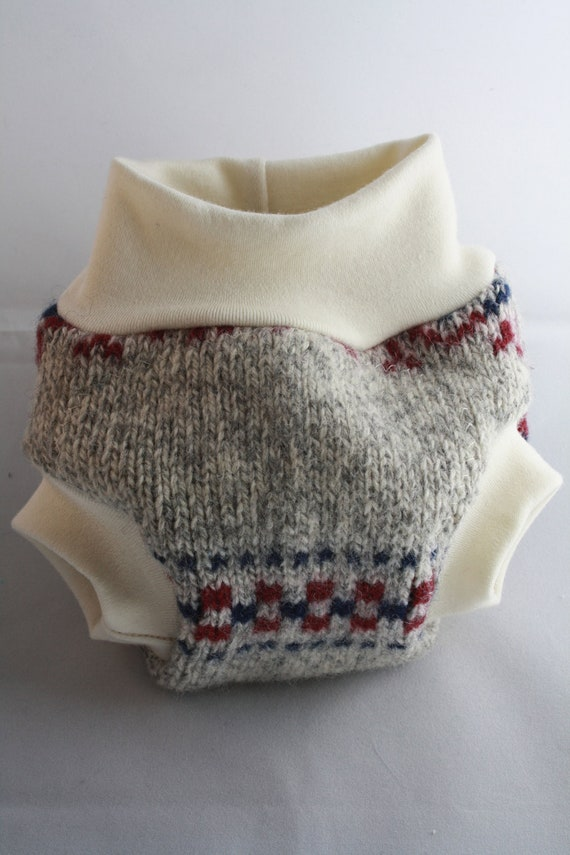Small--Lambie Love Wool Soaker--School Spirit--Cloth Diaper Cover