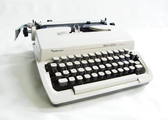 Vintage Cursive Portable Typewriter
