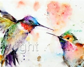 Hummingbird Watercolor GREETING CARDS 6-Pak of Your Choice