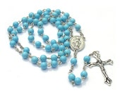 Turquoise Rosary Beads by Bead Lovers Korner on Upcycle Fever