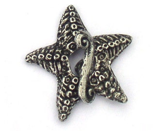 Green Girl Studios Starfish Toggle Clasp Pewter