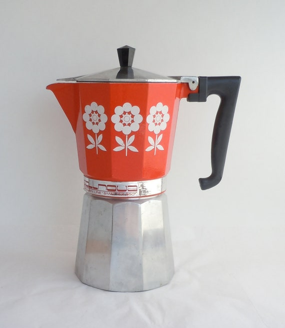 Italian Espresso Maker ~ Vintage gemelli stovetop espresso maker made in italy