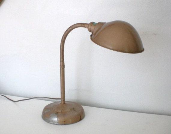 vintage gooseneck desk lamp 1950 39 s metal by gallivantsvintage. Black Bedroom Furniture Sets. Home Design Ideas