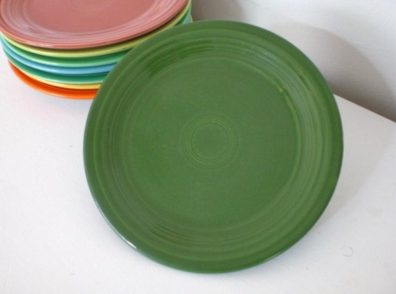 "RESERVED Fiestaware 9"" Luncheon Plate Forest Green"