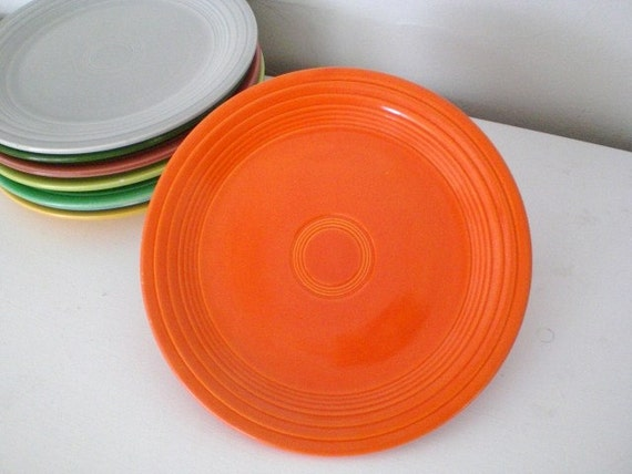 """RESERVED Fiestaware 9"""" Luncheon Plate Red"""