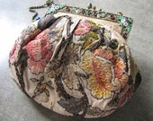 Luxurious Late Victorian - Edwardian French Embroidered Silk Purse