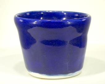 Ceramic Bowl, Electric Blue Cobalt glaze, Blue Vessel, Porcelain, Handmade, Pottery Wheel, home decor, MJS 2