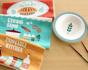 Cotton Linen Fabric Cloth -DIY Cloth Art Manual Cloth -Enjoyable Cooking Kitchen  55x35 Inches