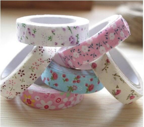 6 Pcs Rural Wind Beautiful Multi-Function Adornment Masking Tape Washi Tape