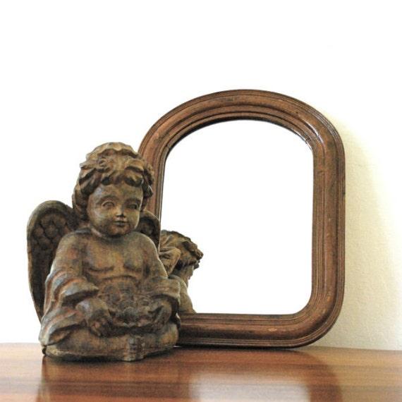 Vintage Mirror Wood Frame Arch Top