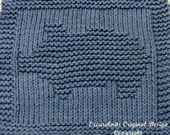 Knitting Cloth Pattern - PIGGY BANK - PDF