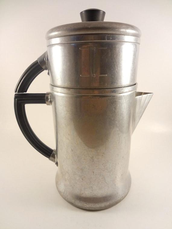 Vintage 1950s Wear Ever Percolator Coffee Pot, Aluminum