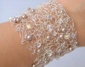 Crochet wire cuff