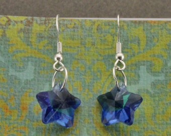 Handmade Czech Glass Star Earrings