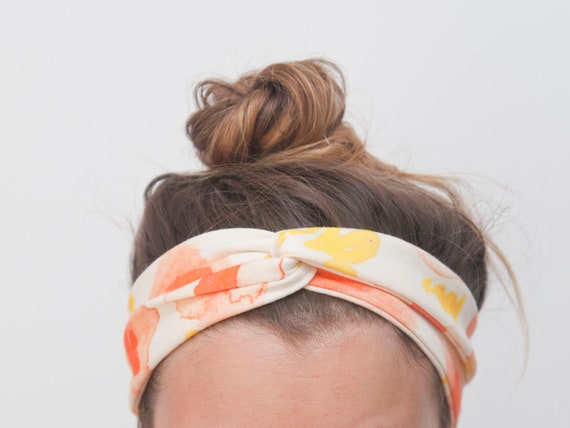 Small Floral Twisted Headband