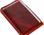 Business Card Case Leather Oxblood Red