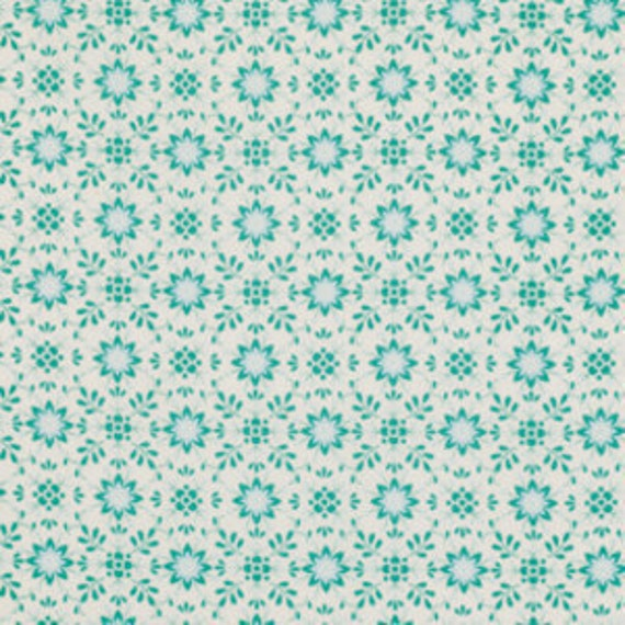 Daisy in Aqua Fabric Dena Designs Pretty Little Things One Yard