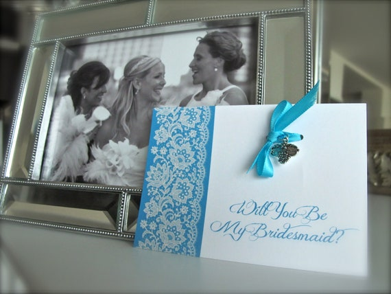 Thank You or Will You Be My Bridesmaid Wedding Pendent Card Gift