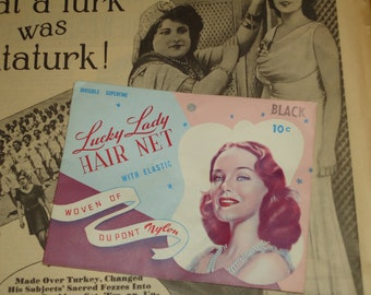 Vintage New Old Stock Lucky Lady Hair Net