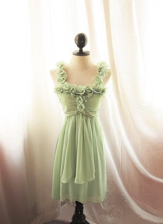 Mermaid Tears Vineyard Medieval Mint Green Dress Minty Marie Antoinette Alice in Wonderland Bohemian Ethereal Jane Austen Dress Gown