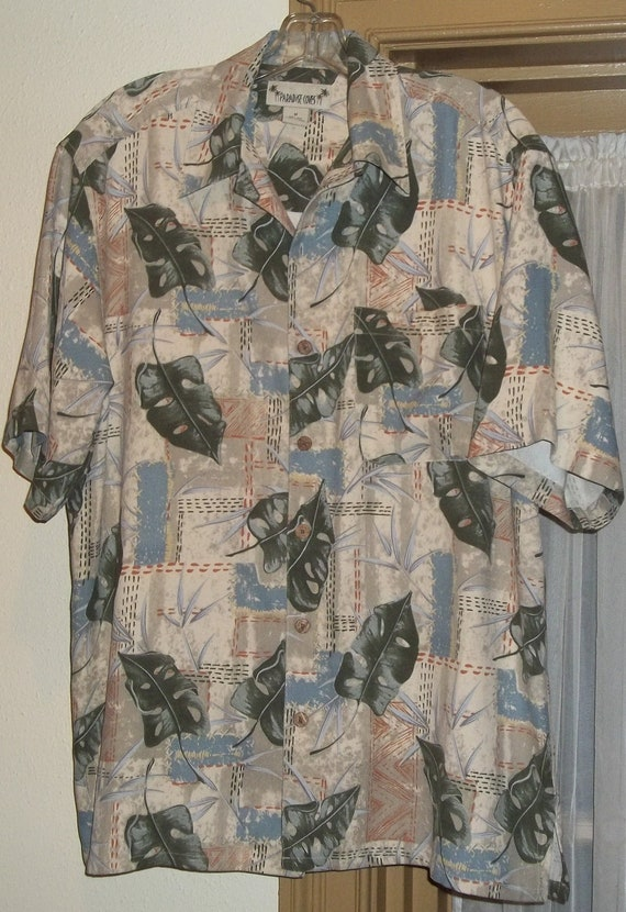 Vintage Paradise Coves Men's Silk Shirt