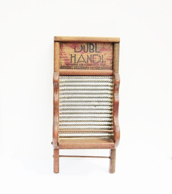 Washboard Laundry Room Decor Upcycled Repurposed Wall Shelf Rustic Vintage