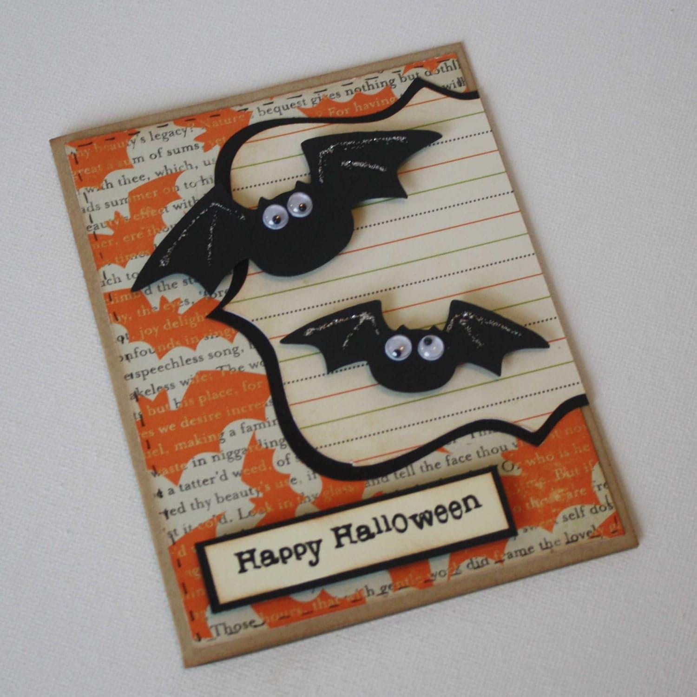 Etsygreetings handmade cards halloween greeting card bats halloween greeting card bats kristyandbryce Images