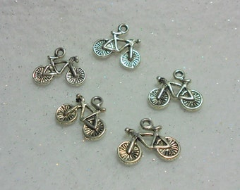 Silver Bicycle Charms Nice Charms Lot of 5