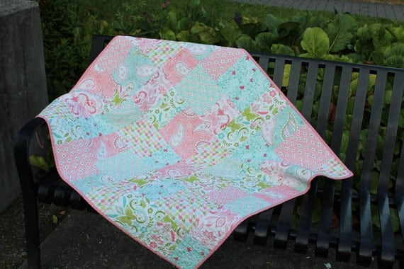 Bella Butterfly Baby Girl Quilt
