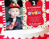 Mickey Mouse Invitation, Thank You Note, Address Labels and Envelope Seals - Clubhouse Photo Invitation by Amanda's Parties TO GO