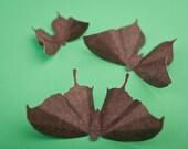 3D Butterfly Wall Art: Chocolate Damask Paper Butterflies for Wall Decor, Nursery, Children's Room