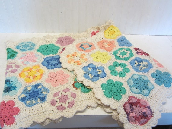 Reserved for Ha Young Lee - Vintage Hand Crocheted Table Runner Dresser Scarf Lap Afghan